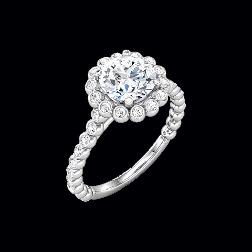 Bezeled Halo Diamond Semi Mount At Graciousrose Com