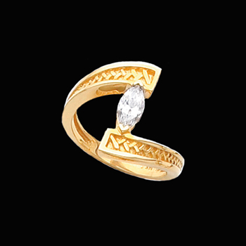 Bypass Marquise Diamond Solitaire