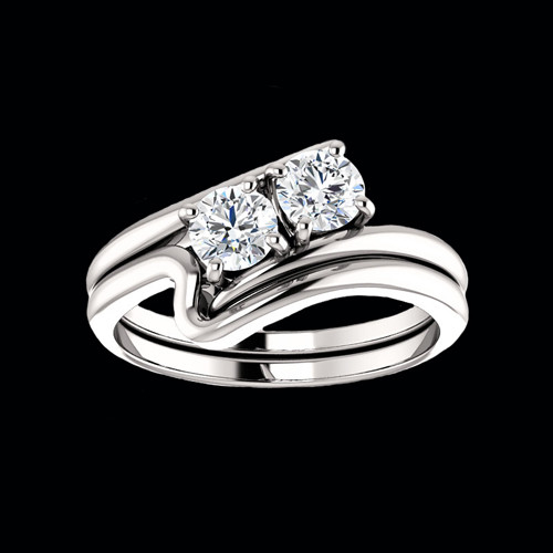 Diamond Two Stone Engagement Ring