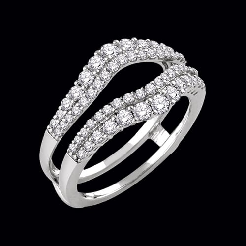 Double Diamond Row Ring Guard