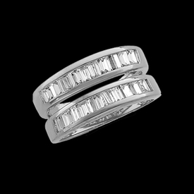 Platinum Baguette Ring Guard