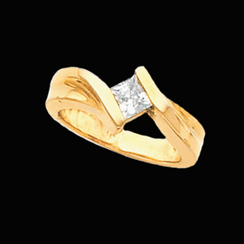 Solitaire Engagement Rings Princess Diamond Solitaire