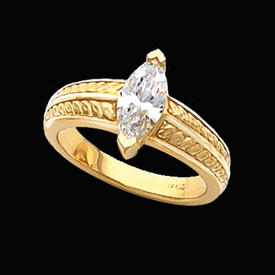 Fancy Marquise Solitaire Ring