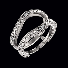 Ring Guards & Wraps Stunning Scroll Design Ring Guard
