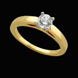 Cathedral Diamond Solitaire