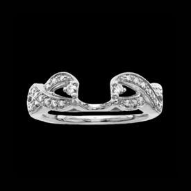 Ring Guards & Wraps 14k White Gold Ribbon Design Ring Guard