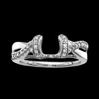 Ring Guards & Wraps Pretty White Gold Diamond Solitaire Wrap