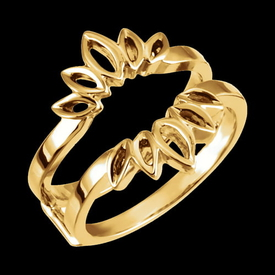 Flashy Metal Ring Guard