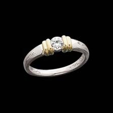 Solitaire Engagement Rings Modern Two Tone Solitaire