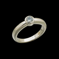 Bezel Set Diamond Solitaire