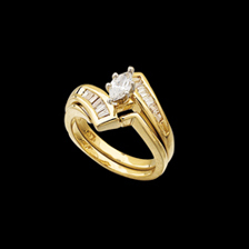 Marquise Bypass Engagement Ring