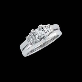 Bridal Engagement Rings Princess Diamond Ring