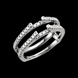 Ring Guards & Wraps Diamond 1/2ctw Ring Guard