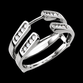 Ring Guards & Wraps Channel Set Diamond Ring Guard
