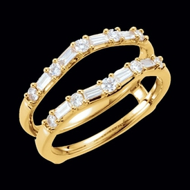 Fabulous 1/2 ctw Diamond Ring Guard