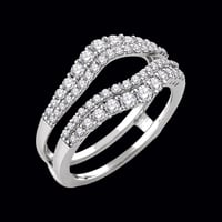 Ring Guards & Wraps Double Diamond Row Ring Guard
