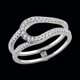 Ring Guards & Wraps Diamond 1/3ctw Ring Guard