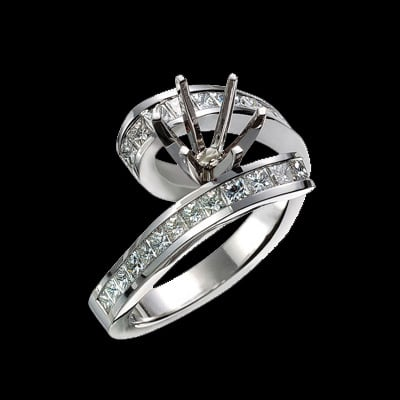modern design engagement ring