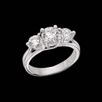 Platinum 2ctw Wedding Ring