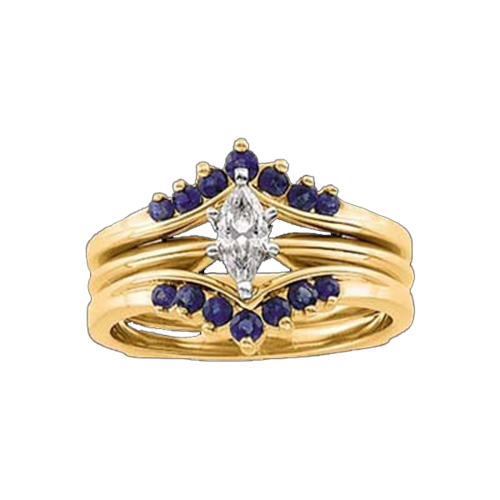 Sapphire Gold Ring Guard