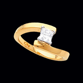 Solitaire Engagement Rings Diamond Solitaire Bypass Design