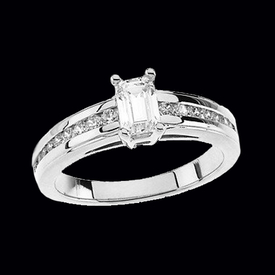 CE1314-12 Platinum Engagement Ring