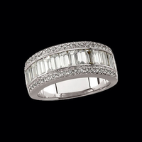 Majestic White Gold Diamond Band
