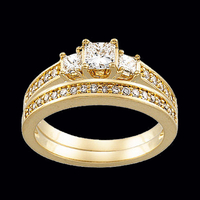Lovely Princess Diamond Engagement Ring