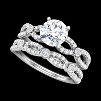 Striking Diamond Engagement Ring