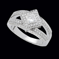 Splendid Princess Diamond Engagement Ring