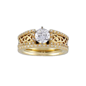 Bridal Engagement Rings Celtic Gold Design Engagement Ring