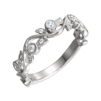 Anniversary Rings Floral Inspired Diamond Anniversary Band