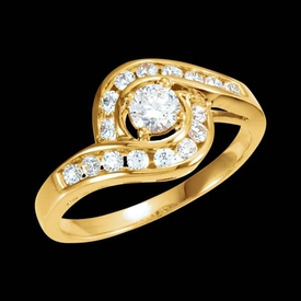 Swirl Design Diamond Wedding Set