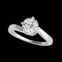 Solitaire Engagement Rings Elegant Diamond Solitaire Engagement Ring