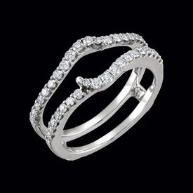 Diamond 14kt Gold Ring Guard