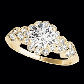 Heart Design Diamond Engagement Ring