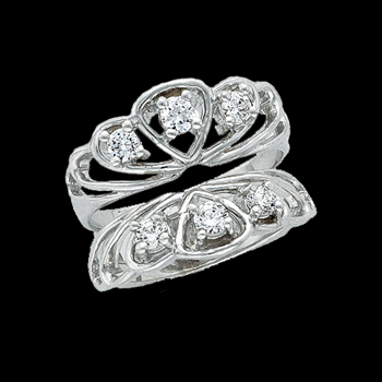 Platinum Diamond Ring Guard