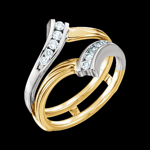 Two Tone Bridal Ring Guard