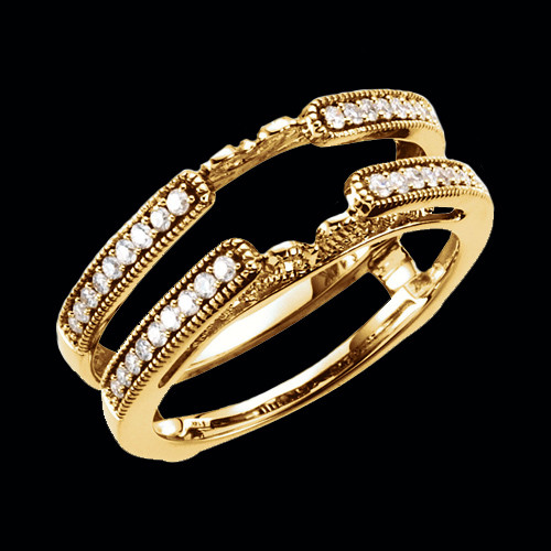Beaded Border Diamond Ring Guard