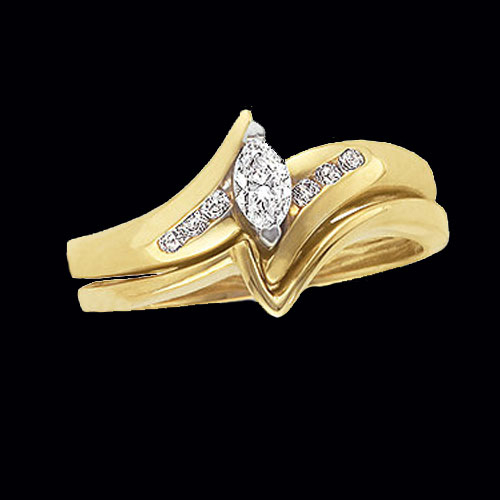 Simple Marquise Diamond Engagement Ring